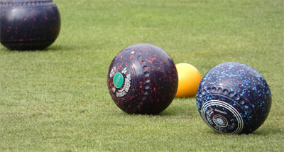 Picture of bowls on a green